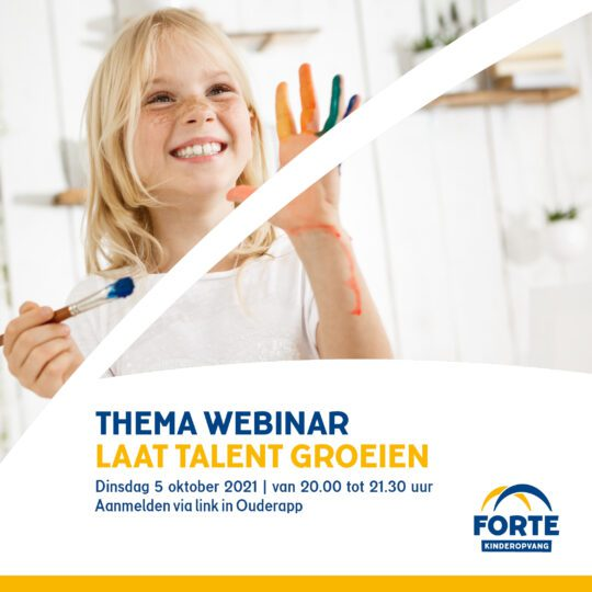 Thema webinar: Laat talent groeien